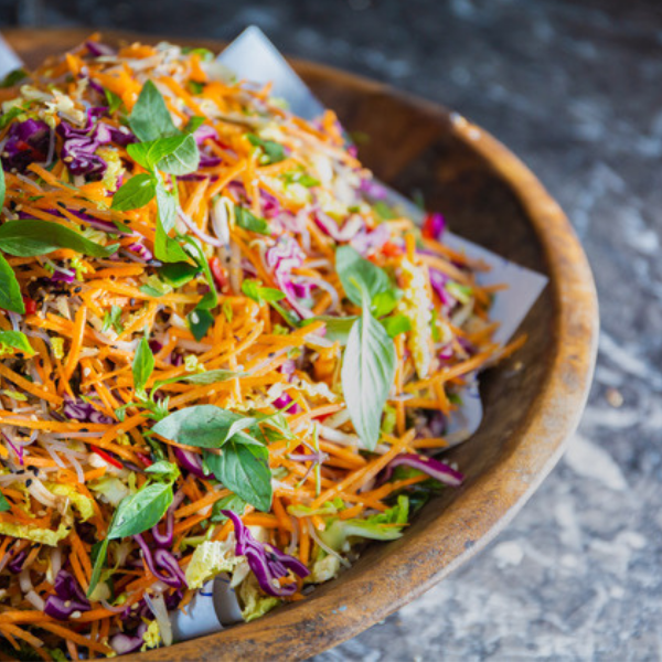 Thai slaw in the counter