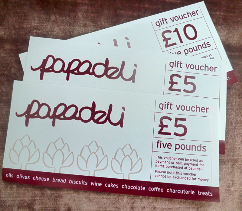 Foodie voucher for Papadeli gift i