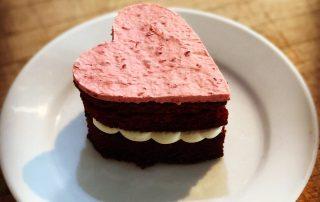 Valentines heart cake Bristol