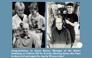 shaving head for Oxfam